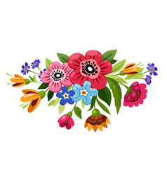 buoquet flowers vector image
