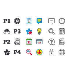 Car parking icons first and second floor sign vector