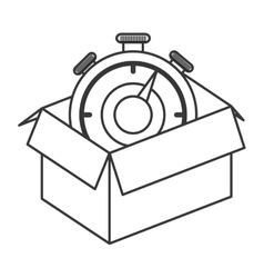 cardboard box icon vector image