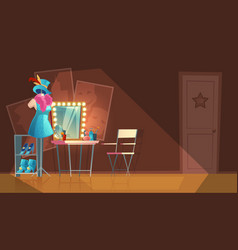 cartoon interior of empty dressing room vector image