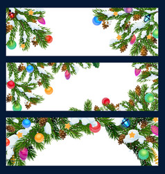 Christmas new year winter holiday blank banners vector