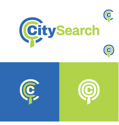 city catalog search logo and icon vector image