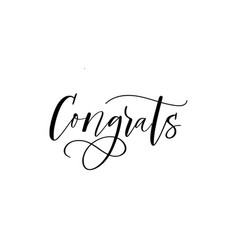 Congrats ink modern brush trendy calligraphy word vector