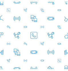 connection icons pattern seamless white background vector image
