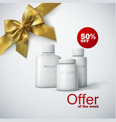 Cosmetic product line ad vector