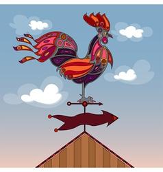 Crowing rooster vector