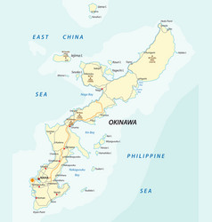detailed road map of japanese island vector image