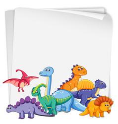 Dinosaur on blank paper vector