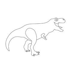 Dinosaur tyrannosaurus icon in outline style vector