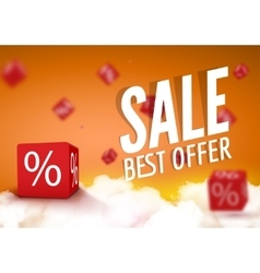 discount boxes dice for store market and shop vector image
