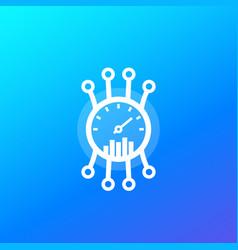 Efficiency performance meter icon vector
