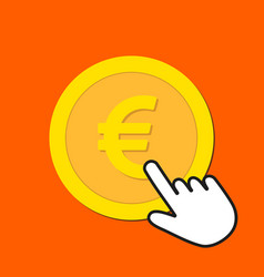 euro currency icon exchange buying currency vector image