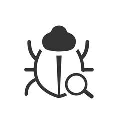 Find bug icon vector