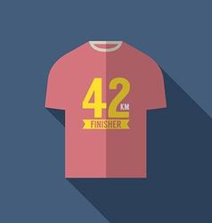 Finisher Shirt For Marathon Runner vector image