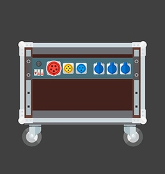 Flat style colored concert stage rack box power vector