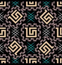 geometric seamless pattern greek style vector image