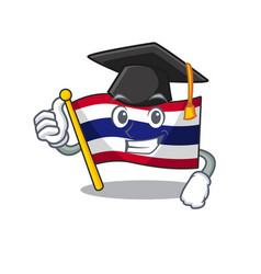 Graduation flag thailand isolated with the vector