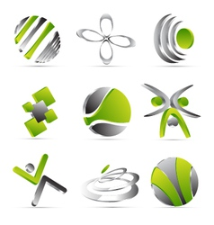 green business icons design vector image