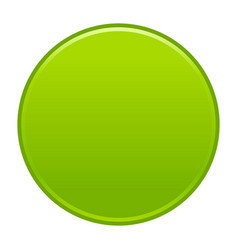 Green circle button empty web internet icon vector