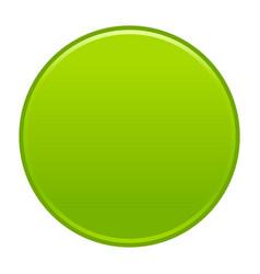 Green circle button empty web internet icon vector