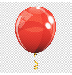 group of colour glossy helium balloons isolated on vector image