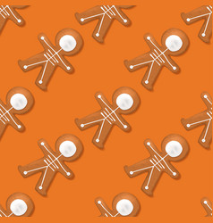 Halloween festive seamless pattern with cookies vector