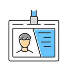 Identification document id tag color icon access vector