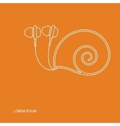 In ear headphones vector image