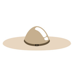isolated summer hat icon vector image