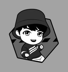 Kpop boy 11 vector