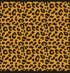 leopard skin seamless pattern african animals vector image