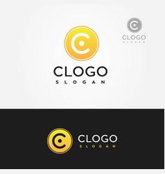 Letter c clogo logo yellow vector