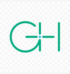 letter g h ligature monogram icon vector image