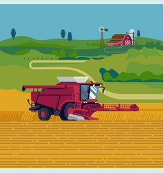 lovely flat design on farming and agriculture vector image
