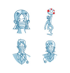 mask protection health care vector image