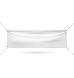 mock up vinyl banner on white background vector image