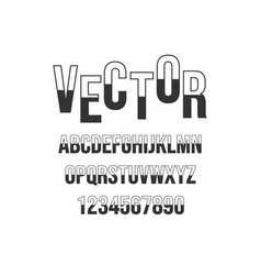 modern alphabet font abstract vector image