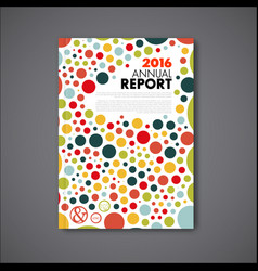 Modern annual report design template vector