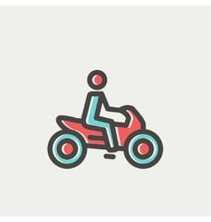 Motorbike thin line icon vector image