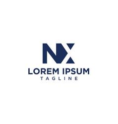 nx negative space logo vector image