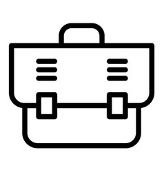 office bag line icon briefcase vector image