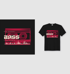 old school bass t-shirt and apparel trendy design vector image
