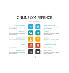 online conference infographic cloud design vector image