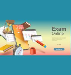 online exam internet quiz or survey distant vector image