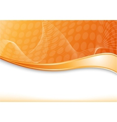 Orange card with wave vector