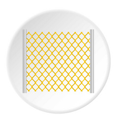 Perforated gate icon circle vector