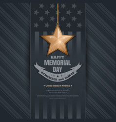 poster for memorial day vector image
