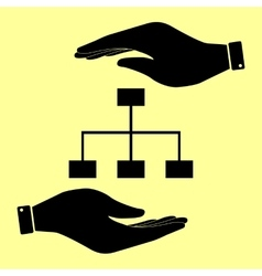 Save or protect symbol hands vector