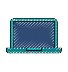 scribble laptop cartoon vector image