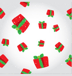 seamless winter pattern with a red gift boxes vector image
